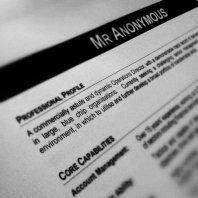A CV with no name?